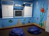 Our childrens playroom and TV room